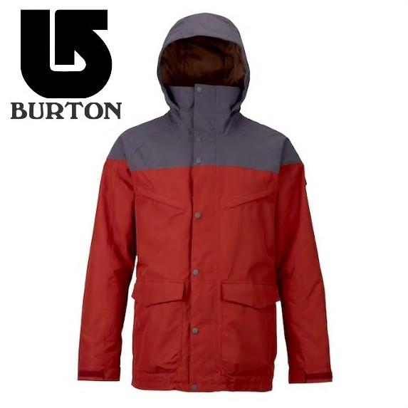 【激安SALE】 BREACH Jacket Fired Brick/Faded 【BURTON-バートン】 17/18 スノーボードウェア/ジャケット/パンツ 【送料無料/SALE/セール】