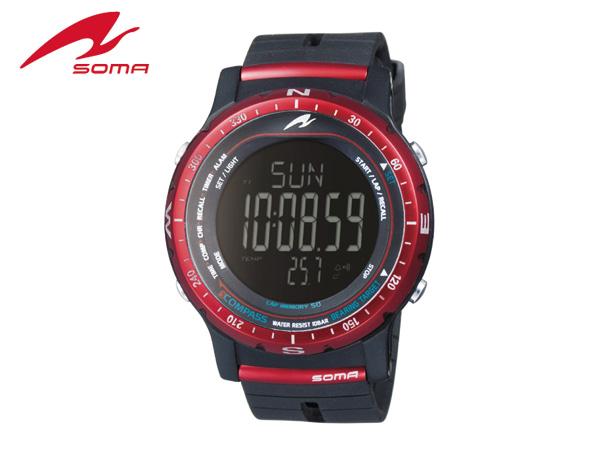【送料無料】ソーマ:RIDEONE COMPASS RED【SOMA 腕時計 スポーツ 自転車 ウォッチ】【あす楽_土曜営業】【あす楽_日曜営業】