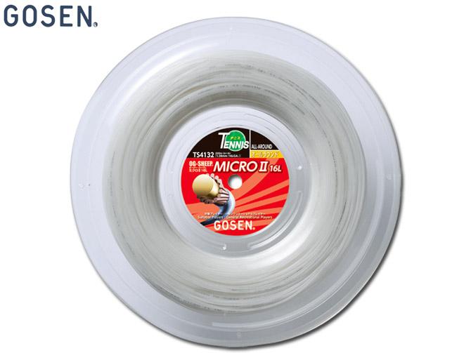 【送料無料】ゴーセン:OGシープミクロ2 16L ロール【GOSEN テニス ガット 硬式 ストリングス】