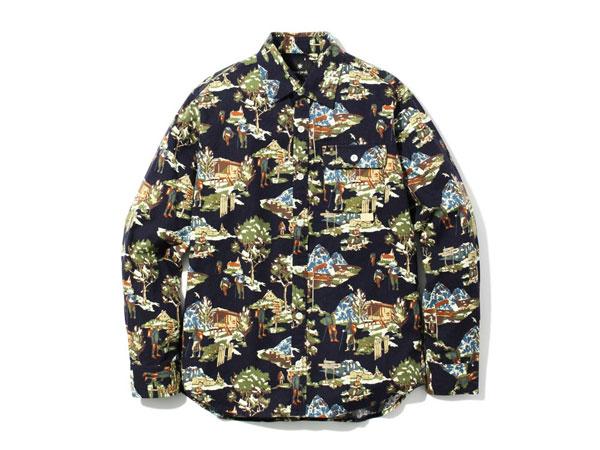 【送料無料】スノーピーク:【メンズ】マウンテンプリントシャツ【snowpeak Mountain Printed Shirt 長袖シャツ】【あす楽_土曜営業】【あす楽_日曜営業】
