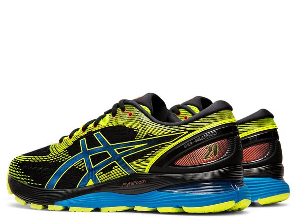 asics GEL Nimbus 21 SP Running Shoe blacksafety yellow