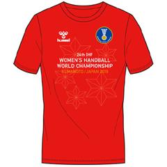 ヒュンメル 『4年保証』 売れ筋ランキング hummel IHFグラフィックTシャツ WHWC ハンドボール 世界選手権大会 300ACTHMIZ-010