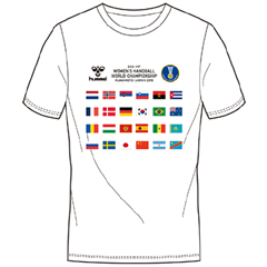 ヒュンメル 永遠の定番モデル hummel ナショナルフラッグTシャツ WHWC 新作入荷!! 300ACTHMNZ-001 ハンドボール 世界選手権大会