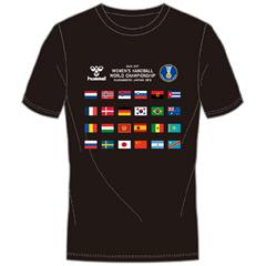 ヒュンメル hummel ナショナルフラッグTシャツ WHWC 300ACTHMNZ-005 ハンドボール 新作続 格安SALEスタート 世界選手権大会
