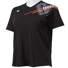 2020 デサント DESCENTE 半袖プラクティスシャツ DVWSJA50-BK ブランド買うならブランドオフ レディース バレーボール