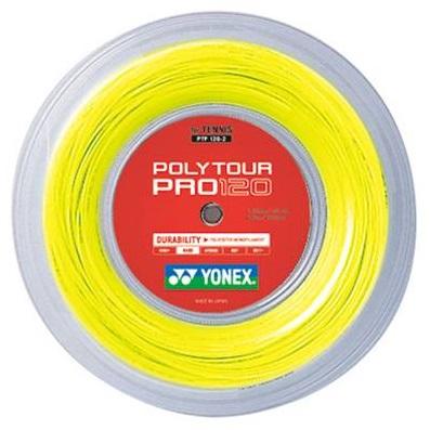 【送料無料】(北海道を除く)ヨネックス YONEX テニス ロールガット ストリング POLYTOUR PRO ポリツアープロ 120 PTP120-2 1.20mm フラッシュイエロー(557) 240m