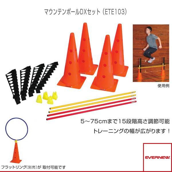 【運動場用品 設備・備品 エバニュー】[送料別途]マウンテンポールDXセット(ETE103)