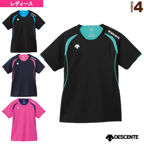 信託 バレーボール ウェア レディース DSS-5421W 半袖ライトゲームシャツ デサント 本物◆
