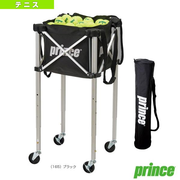 【テニス コート用品 プリンス】 ボールバスケット/3段階高さ調整機能ロックピンキャスター付(PL065)カートボールカゴ