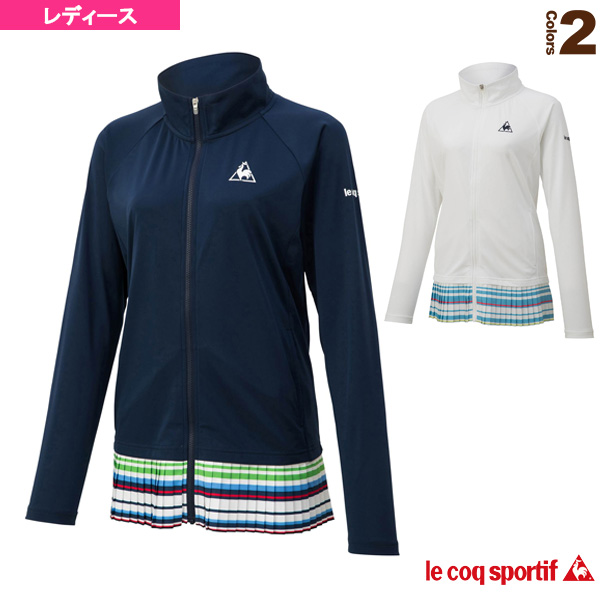 【テニス・バドミントン ウェア(レディース) ルコック】 シャツジャケット/レディース(QTWNJC63)
