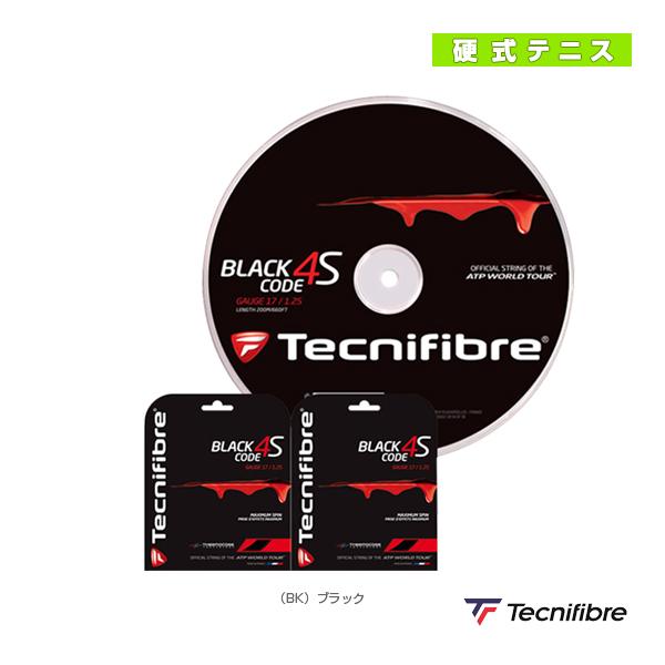【テニス ストリング(ロール他) テクニファイバー】 ブラックコード 4S/BLACK CODE 4S/200mロール/単張2張プレゼント(TFR516/TFR517/TFR518)