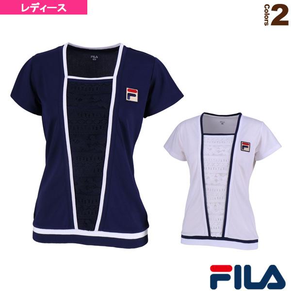 【テニス・バドミントン ウェア(レディース) フィラ】 ゲームシャツ/レディース(VL1926)
