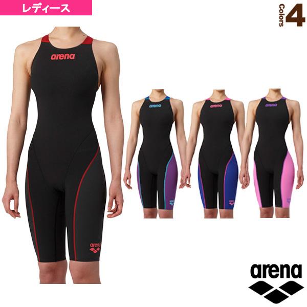 【水泳 ウェア(レディース) アリーナ】 ハーフスパッツオープンバック(クロスバック)/レーシング水着/レディース(ARN-7010WN)