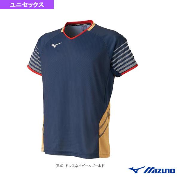 テニス バドミントン ウェア 人気ブレゼント 上質 メンズ ユニ ユニセックス 72MA9003 ミズノ ゲームシャツ 日立情報通信エンジニアリング着用モデル