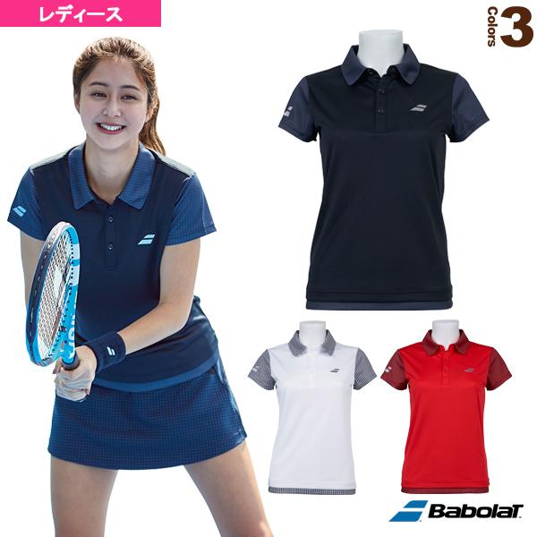 <title>テニス バドミントン ウェア レディース バボラ 感謝価格 ショートスリーブシャツ カラープレイライン BTWOJA09</title>