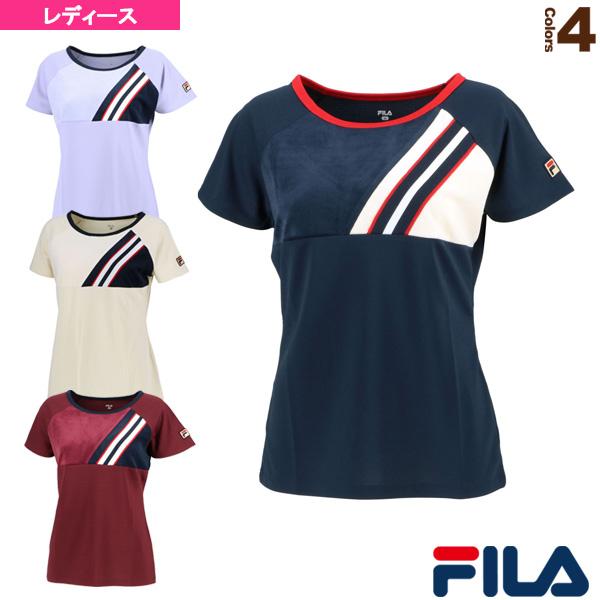 【テニス・バドミントン ウェア(レディース) フィラ】 ゲームシャツ/レディース(VL2023)