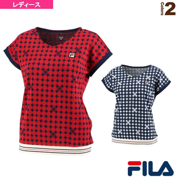 【テニス・バドミントン ウェア(レディース) フィラ】 ゲームシャツ/レディース(VL2033)