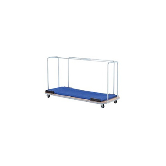 【卓球 コート用品 TSP】[送料お見積り]防球フェンス運搬車/2m幅用(051100)