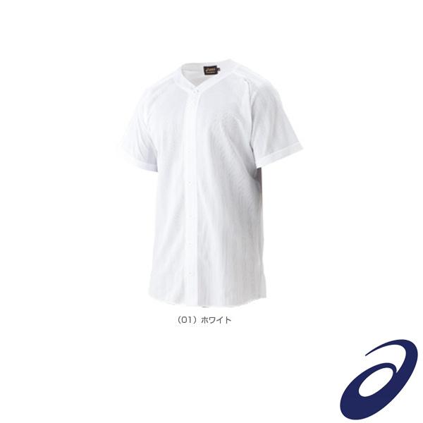 野球 訳あり ウェア メンズ ユニ アシックス 超激安特価 フルオープンシャツ BAS011 スクールゲームシャツ ゴールドステージ