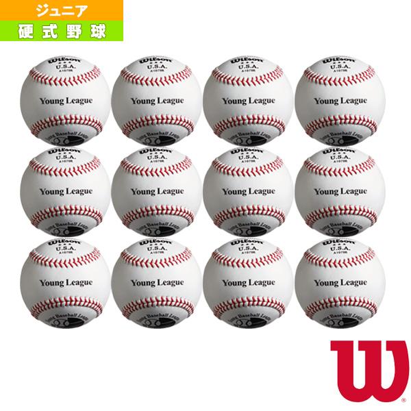 【野球 ボール ウィルソン】 全日本少年硬式野球連盟(ヤングリーグ)試合球/硬式試合球『1ダース(12球)』(WTA1078R)