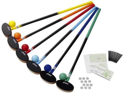 【送料無料(沖縄別途)】アシックス グラウンドゴルフ クラブ・樹脂ボール6色セットGGG113