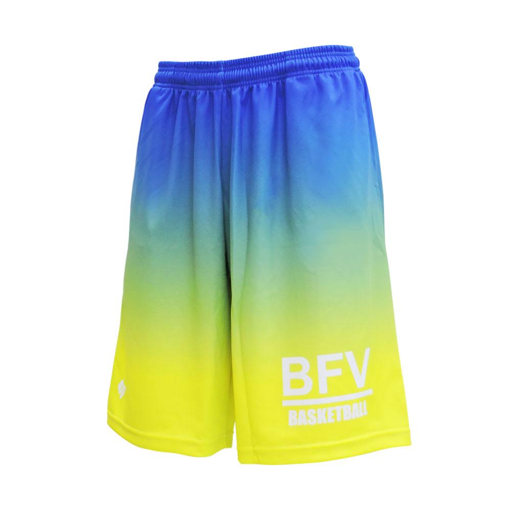 BFIVE 通信販売 ビーファイブ BF_GRD_SHORTS BLUE-YELLOW バスパン イエロー 再入荷/予約販売! ユニセックス ブルー S-XO