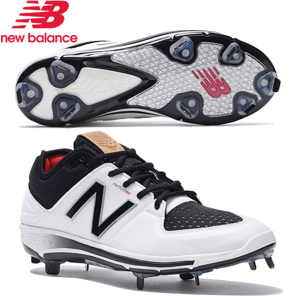 NEWBALANCE/L3000 WHITE/BLACK ニューバランス/野球スパイク・カラースパイク 金具 樹脂底