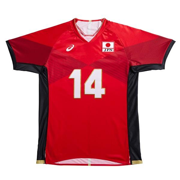 アシックス 全日本男子バレーボールチーム オーセンティックシャツ 2051A002 601