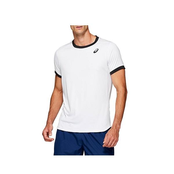 テニスウェア 公式 半袖 P2倍+10%OFFクーポン アシックス メンズ テニス CLUB 全品送料無料 ショートスリーブトップス 2041A037 ウェア 100