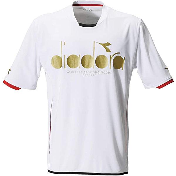 超安い P2倍+10%OFFクーポン ディアドラ メンズ テニス ウェア ロゴトップ DTP9583 90 完売 シャツ