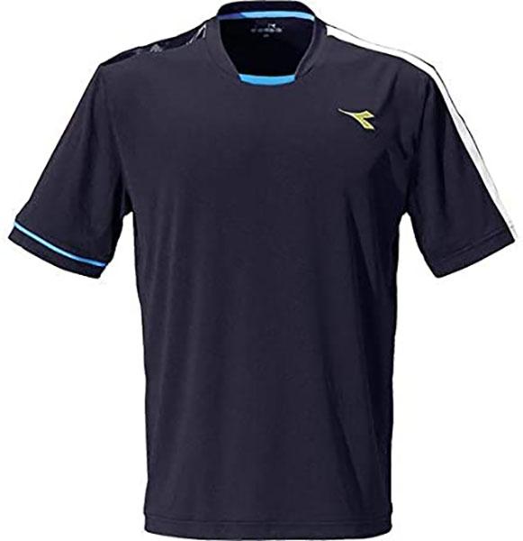 実物 P2倍+10%OFFクーポン ディアドラ 保障 メンズ テニス ウエア 6890 チーム DTP9587 トップ