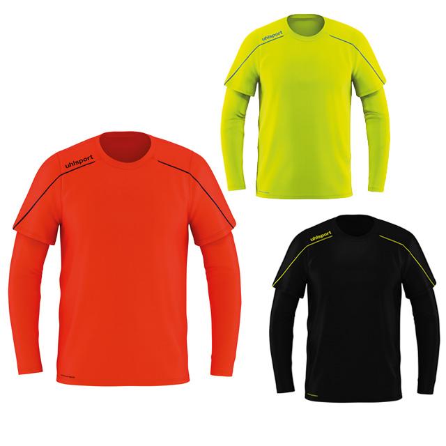 ウールシュポルト サッカー キーパーウェア ストリーム22 GKシャツ ゴールキーパーシャツ レッド イエロー ブラック 【uhlsport2019FW】 1005623