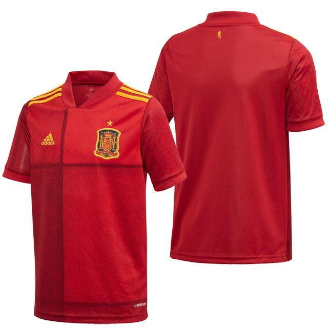 アディダス ジュニア スペイン代表 2020 ホーム サッカー レプリカユニフォーム レッド 半袖 【adidas2020SS】 GLL45-FI6237