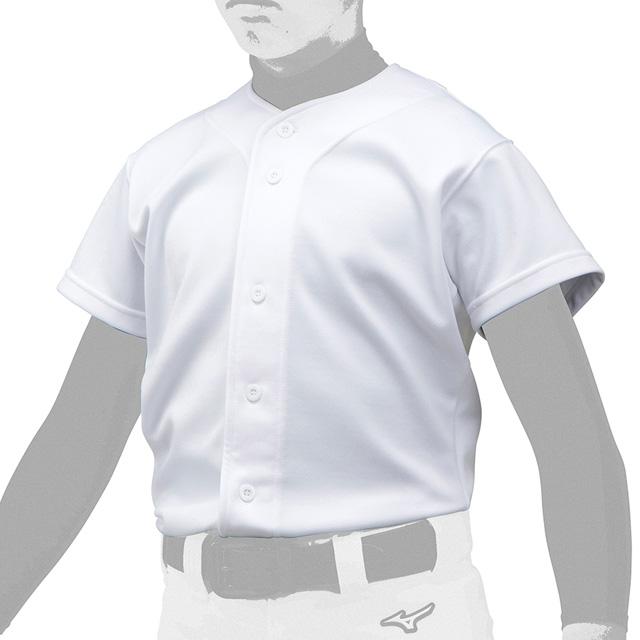 丈夫で破れにくく 防汚性能がある生地に柔らかさを追加 野球用品 mizuno 練習用 ユニフォームシャツ ニット MIZUNO フルオープン GACHIユニフォームシャツ 野球 ミズノ ジュニア 少年 練習着12JC9F80 日本未発売 セール品