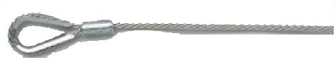 バレーボール ネット付属品 上部ロープ 6人制 ステンレスワイヤーロープ 片端未輪加工 4mm 15.2m T4190 日本製