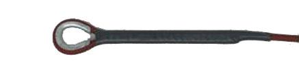 バレーボール ネット付属品 上部ロープ 6人制 イザナスロープ 片端未輪加工 6mm 15.2m T5190 日本製