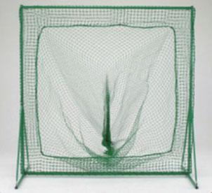 野球用 防球フェンス 組立式 移動式 トスバッティング用 200cm×200cm 集球袋付き ネットセット T309 日本製