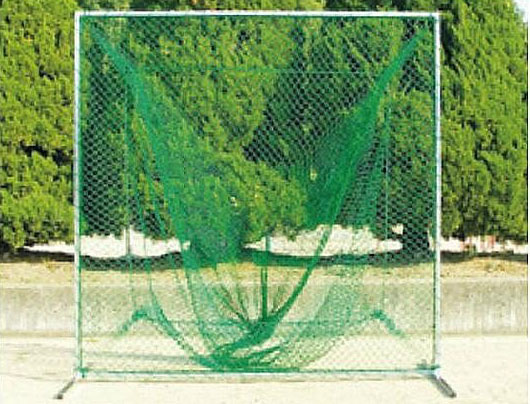 野球用 防球フェンス 組立式 移動式 トスバッティング用 200cm×200cm 集球袋付き ネット セット T350 日本製 防犯 屋外