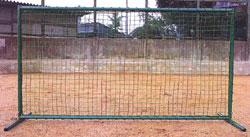 野球用ネット 防球フェンス(1.06mx2m) 野球ネット・フレームセット T351 日本製