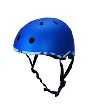 【まとめ売り 12個】ジュニア用 ラウンドヘルメット ブルー RH60448 49-55cm ジュニア 幼児  ローラーゲーム ストリート ローラー スラローム アクティブスポーツ スケボー インライン 自転車 サイクル モータースポーツ プロ プレゼント