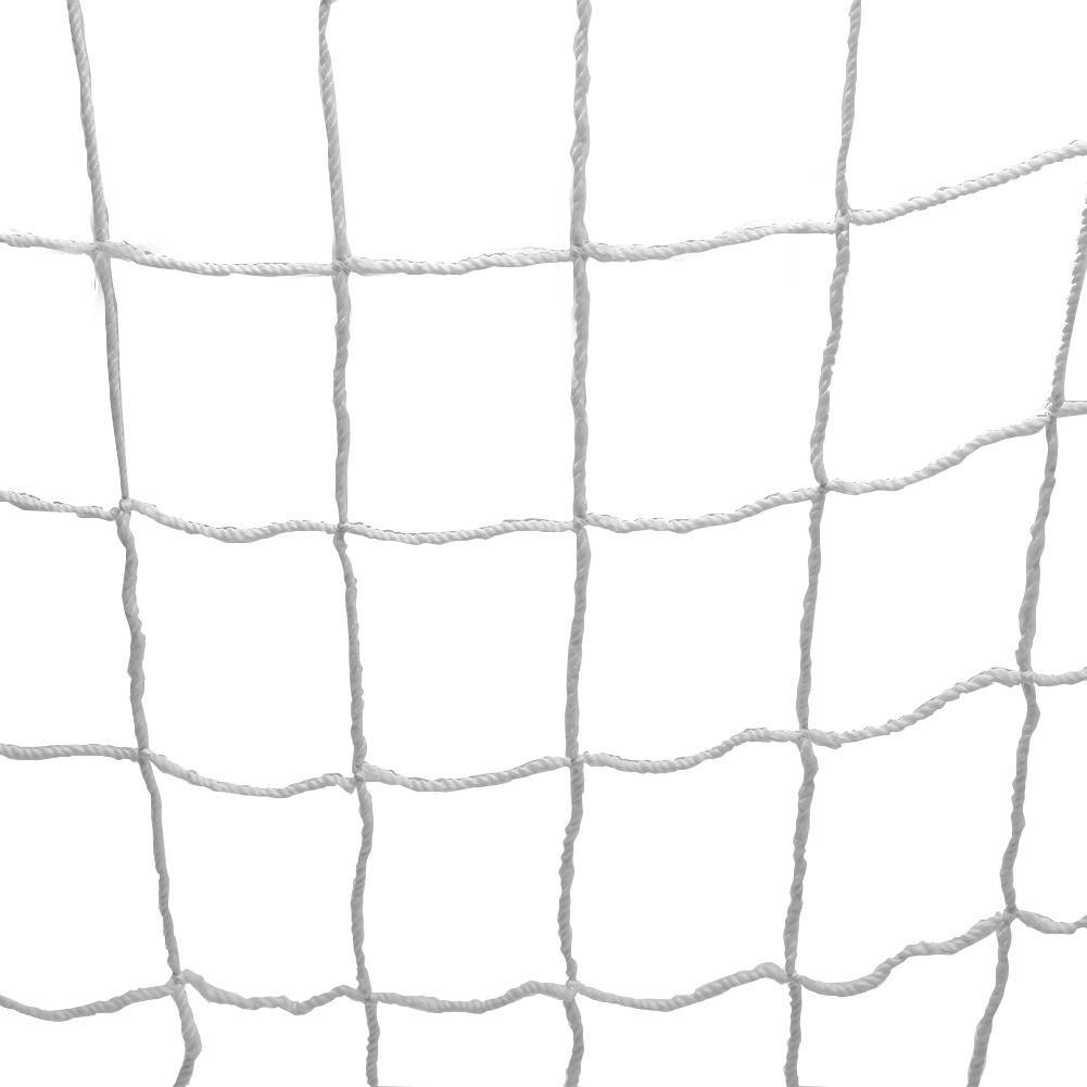 サッカーゴールネット ジュニア サッカー フットサル ホワイト T418 日本製 2張1組 ネット ゴール 部活 クラブ サークル