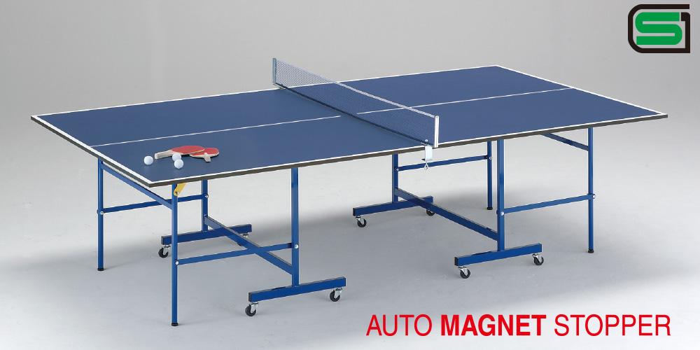 UNIVER ユニバー 国際公式規格サイズ 卓球台 JM20 日本製 PLAY BACK(内折セパレート) ラケット2本、ボール3個、専用ネット、サポート付