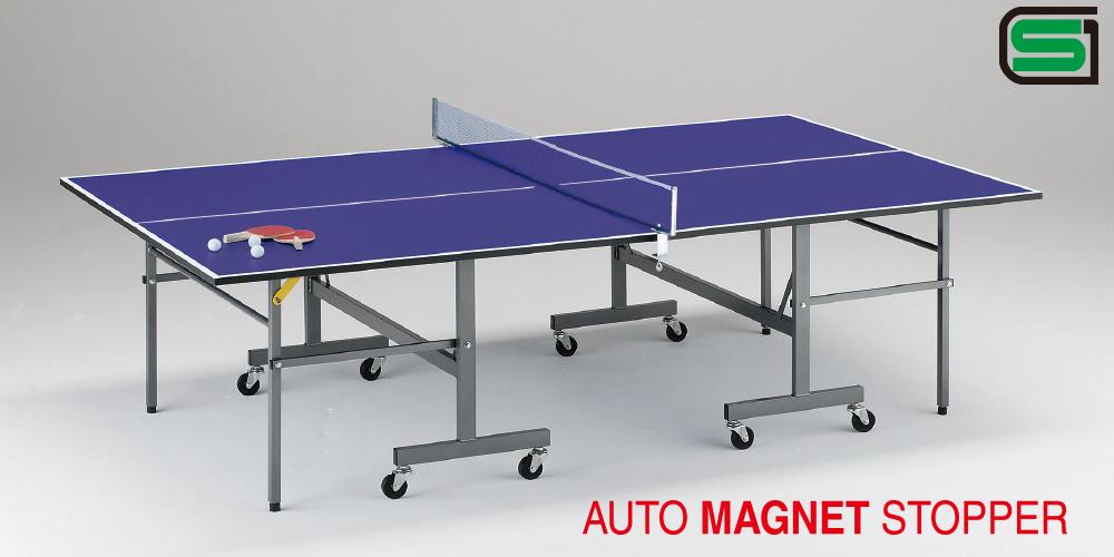 UNIVER ユニバー 国際公式規格サイズ 卓球台 ND18 日本製 PLAY BACK(内折セパレート) ラケット2本、ボール3個、専用ネット、サポート付