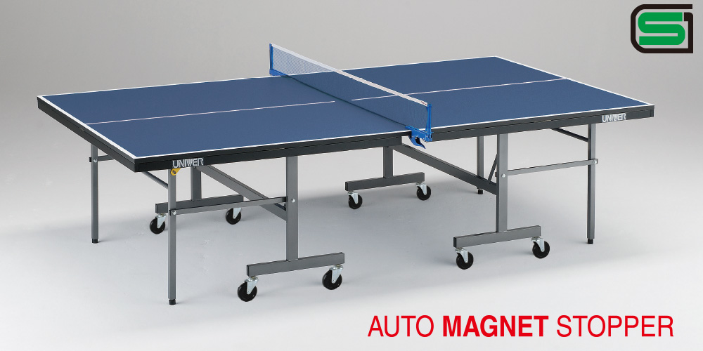 UNIVER ユニバー 国際公式規格サイズ 卓球台 IM22F 日本製 PLAY BACK(内折セパレート)卓球バレー