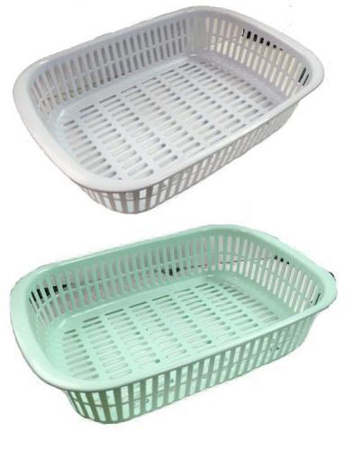 水切り バット ザラ キッチン 収納ボックス 日本製 84個 ライトグリーン ライトブルー 生活 ザッカ 食器 プラ