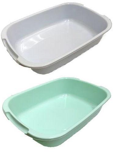 水切り バットトレー キッチン 収納ボックス 日本製 84個 ライトグリーン ライトブルー 生活 ザッカ 食器 プラ