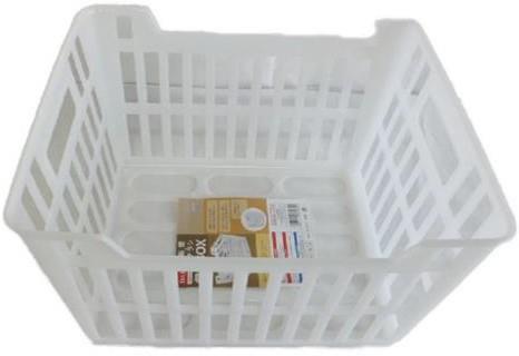 新聞 収納ボックス クリア ボックス 日本製 120個