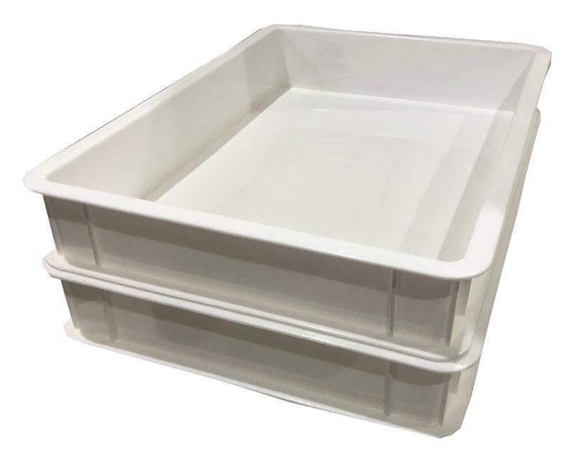 トレー 浅型 万能トレー ホワイト 収納 ボックス 日本製 80個 あさがた 浅い 整理 整頓 正月 入れ物 MADE IN JAPAN 仕分け 工場 33x24x5.5cm 飲食店 仕分け 厨房