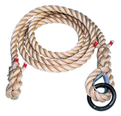 クライミングロープ 麻 懸垂ロープ 5m ロープ径38mm K871 学校 体育館 綱 麻ロープ