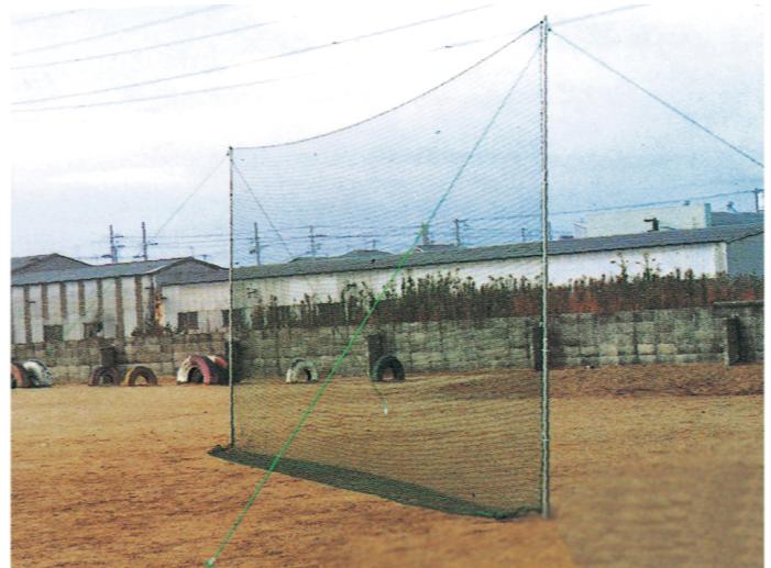 野球 打撃練習 野球ネット ネット支柱一体式 3X7m K371 バッティング練習 野球練習用品 ソフトボール 防球ネット BASEBALL SOFTBALL